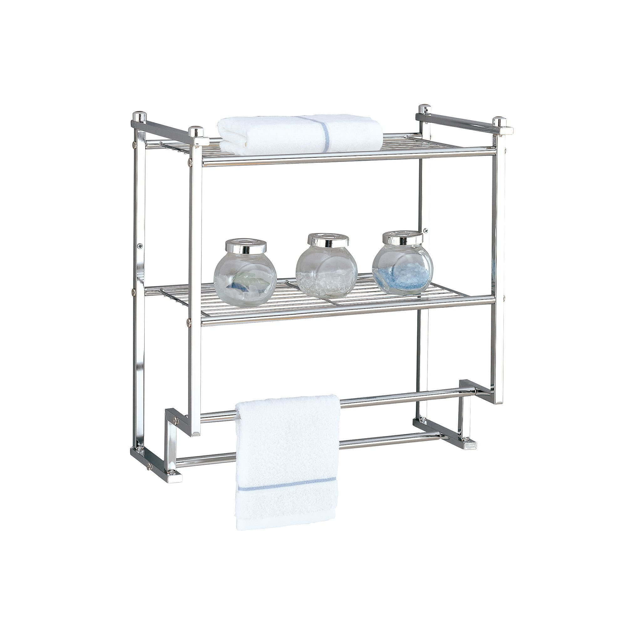 Neu Home Metro 2-Tier Wall-Mounted Shelf, Grey