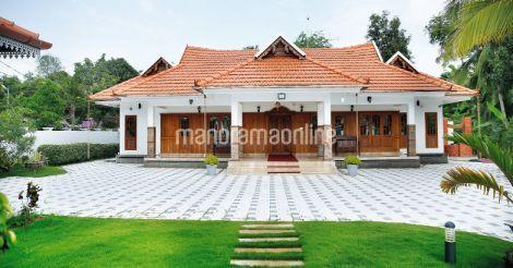Front View Kerala Traditional House Kerala House Design Kerala Houses