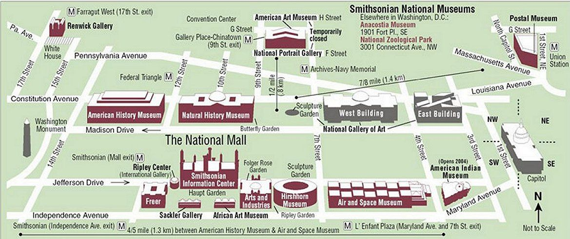 map of the nagtional mall MyLife in Metro DC Getting Out in the