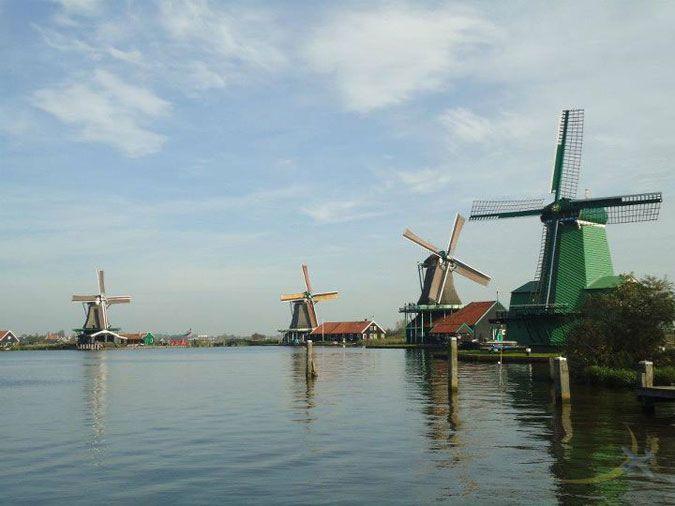 Photo: Windmills of Zaandam, Netherlands