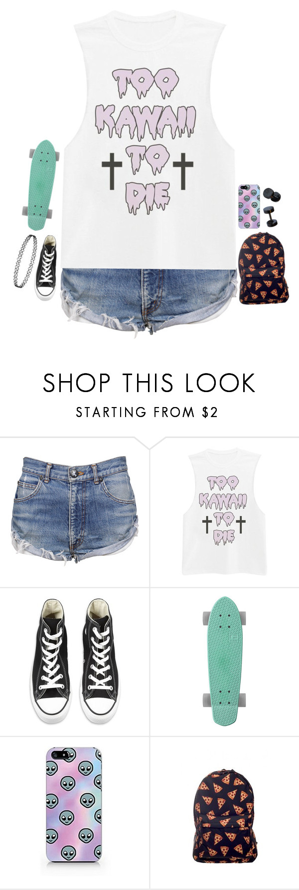 """""""RTD"""" by xxghostlygracexx ❤ liked on Polyvore featuring OneTeaspoon and Converse"""