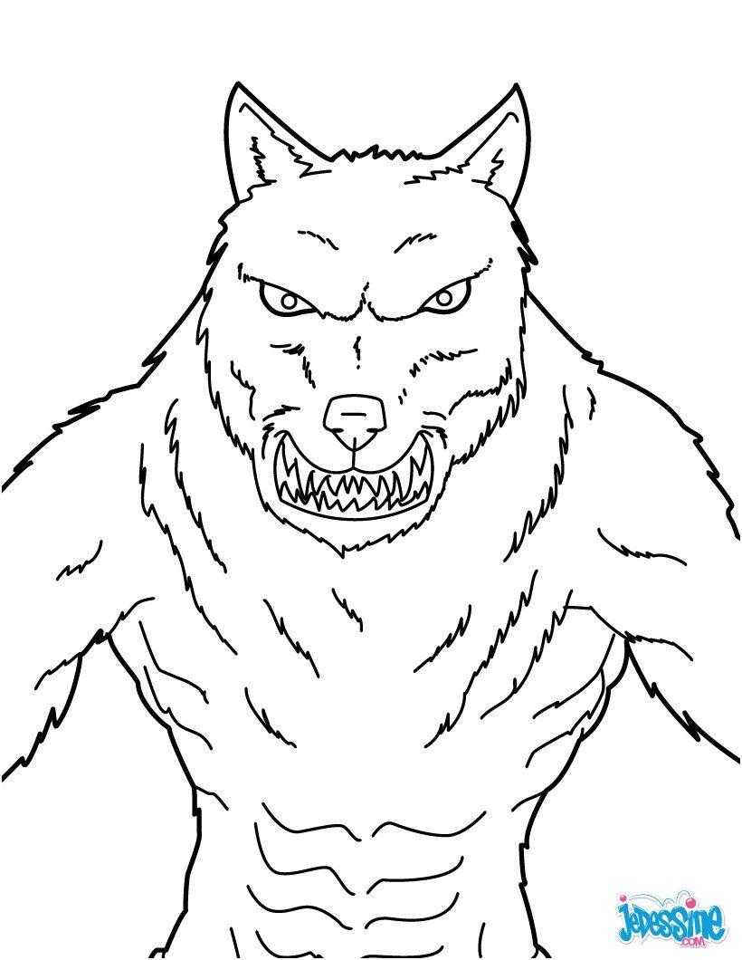 14 Belle Dessin De Loup Garou Images Coloriage Loup Dessin De Loup Coloriage Monstre