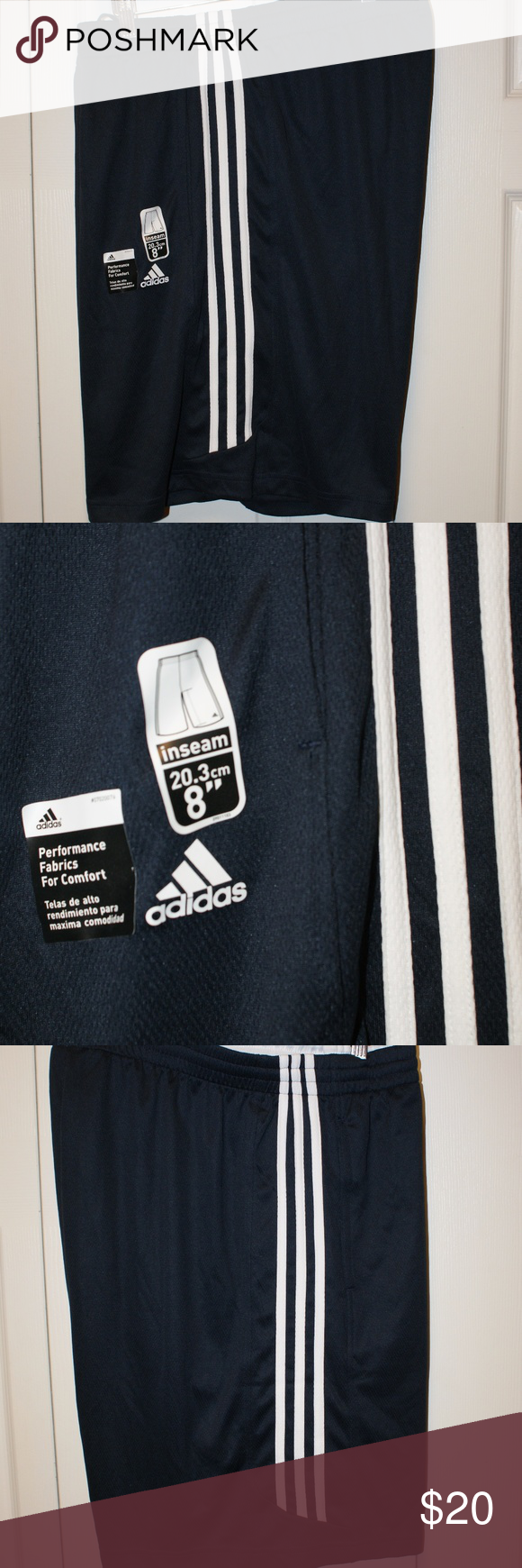 Adidas Shorts XXL....NWT Adidas Shorts XXL....NWT....side pockets....drawstring waist....smoke/pet free....shipping within 1 business day....please ask any questions. adidas Shorts Athletic