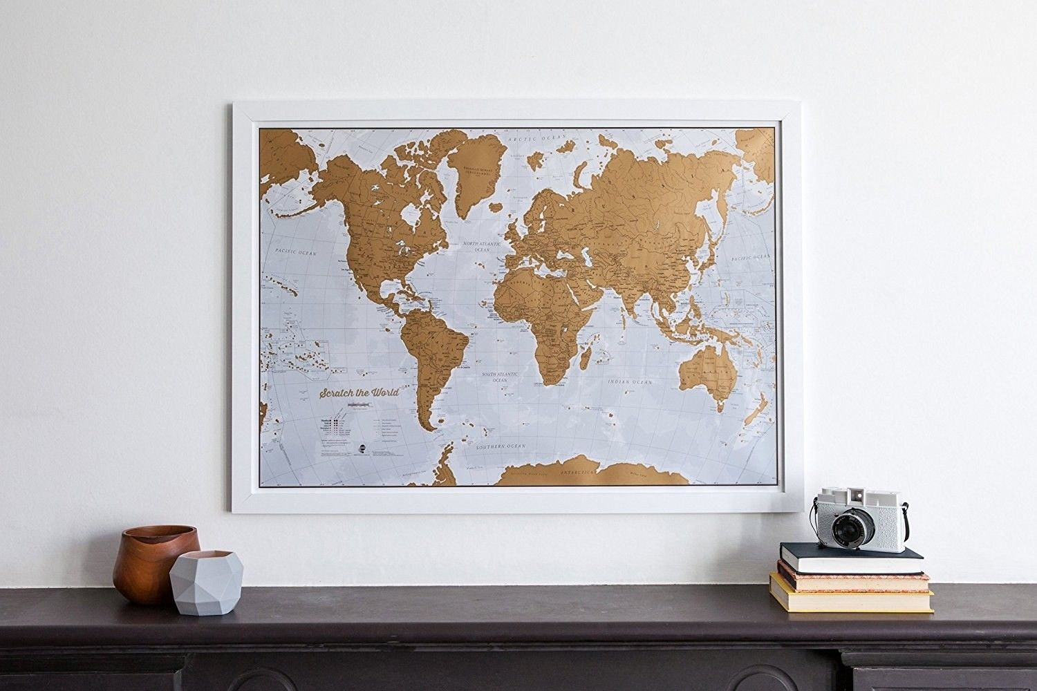 A scratch-off map for anyone conquering the world one destination at a time. | 21 Products From Amazon That'll Make Perfect Gifts