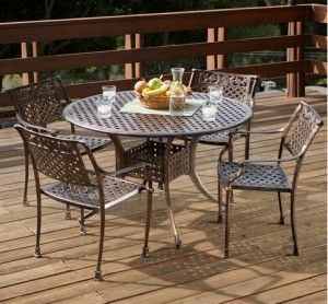 copper outdoor dining bistro table set classic home outdoor