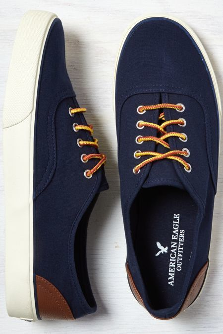 the latest 4a889 9bdcc American Eagle Outfitters Indigo American Eagle Canvas Sneaker