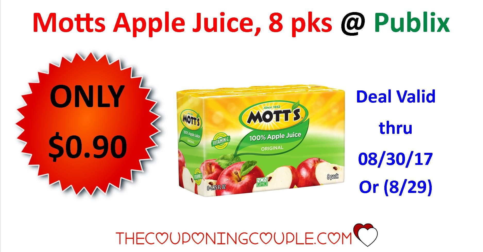 Thru Today!! Cheap Motts Apple Juice 1 Sensibles 64oz