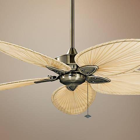 """52"""" Fanimation Windpointe Antique Brass 5 Blade Ceiling Fan F2189 - 5 light ceiling fan"""