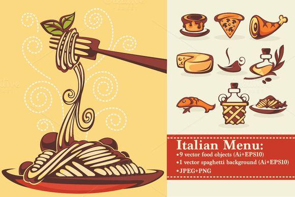 vector italian menu by tachyglossus on creative market