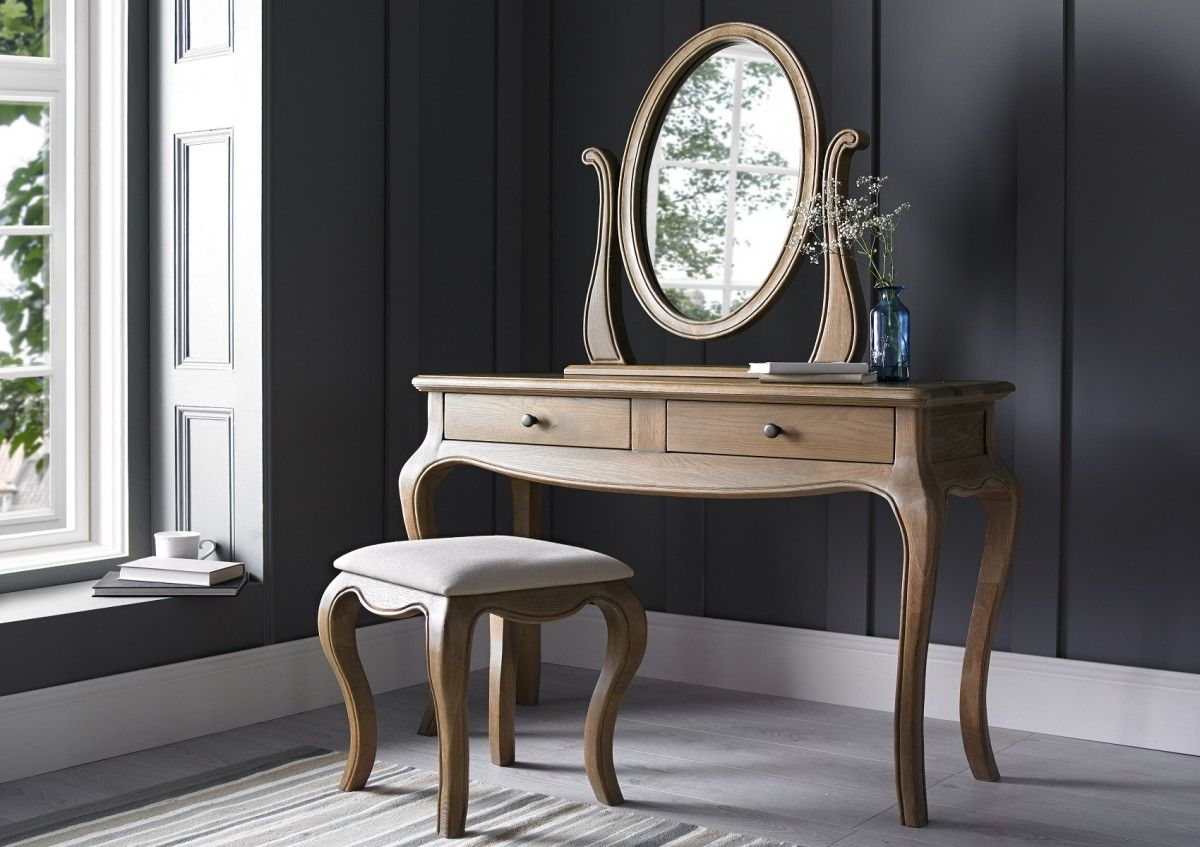 Loire Weathered Oak Dressing Table Mirror Only