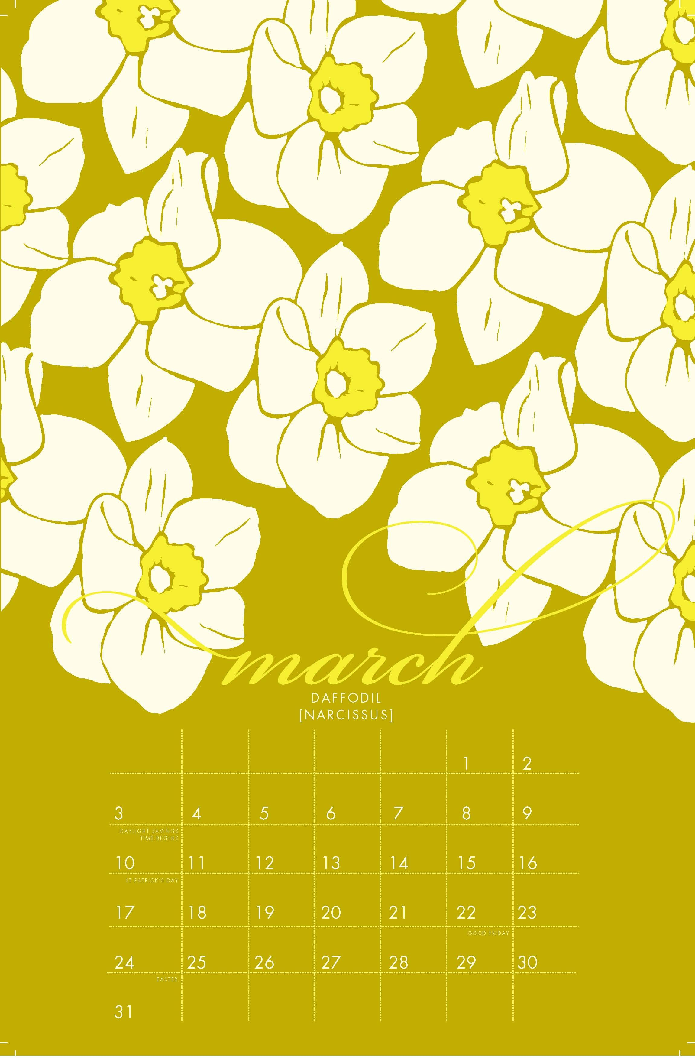 March s birth flower is the daffodil Each month features a unique