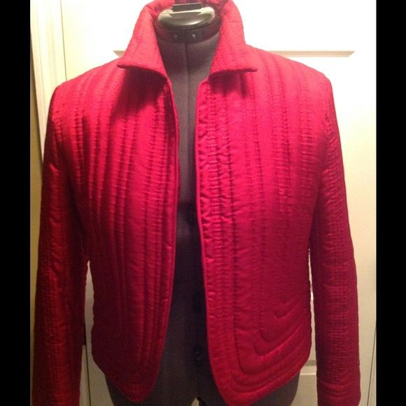 Silk jacket A stunning  100% silk quilted jacket by Spiegel. Very chic in both color and design!  Can certainly be dressed up or worn casually.. Light weight. Excellent condition. Size 12. Spiegel Jackets & Coats