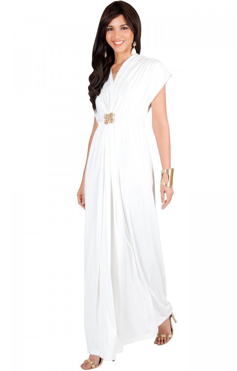 Behati long vneck empire waist full floor length maxi dress gown