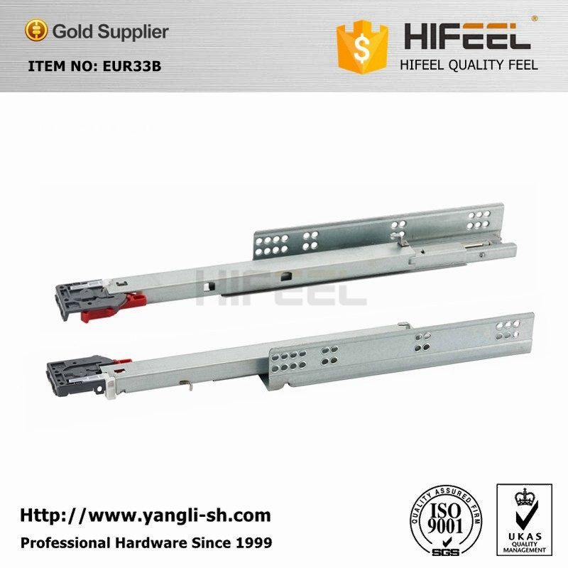 Euro Type 3 Fold Soft Close Drawer Slides With Front Connectors