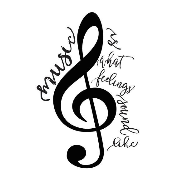 Printable Word Art Music Poster Music Is What Feelings Sound Like