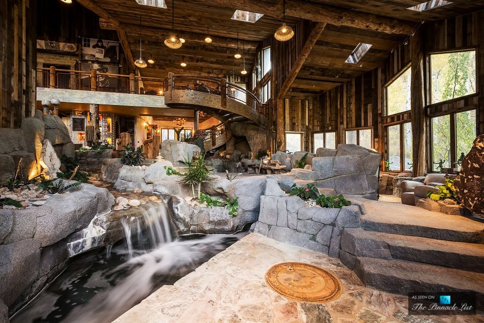 Rustic Mansion With Indoor River Park City Utah 960x640 Indoor