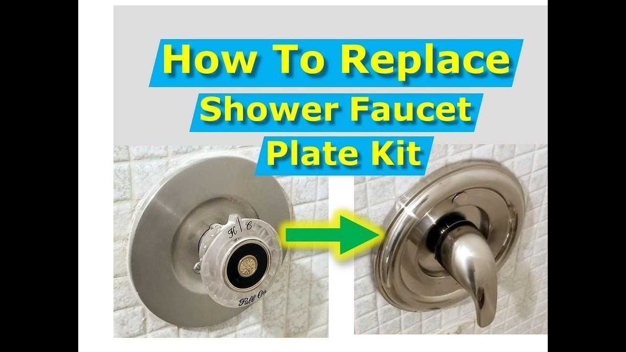 Diy How To Replace Shower Faucet Trim Plate And Handle Moen