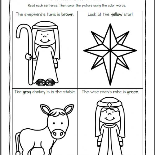 Nativity Worksheets for Kindergarten and First Grade | Nacimientos ...