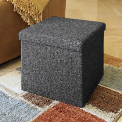 Zipcode Design Zosia Tufted Foldable Storage Cube Ottoman Upholstery    Ottomans, Storage And Storage Cubes
