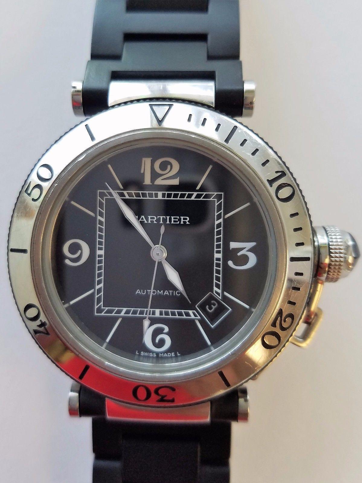 cdf56db249b3 Pre-Owned Cartier Pasha Seatimer Automatic Steel Men s Watch Ref  2790  W31077U2