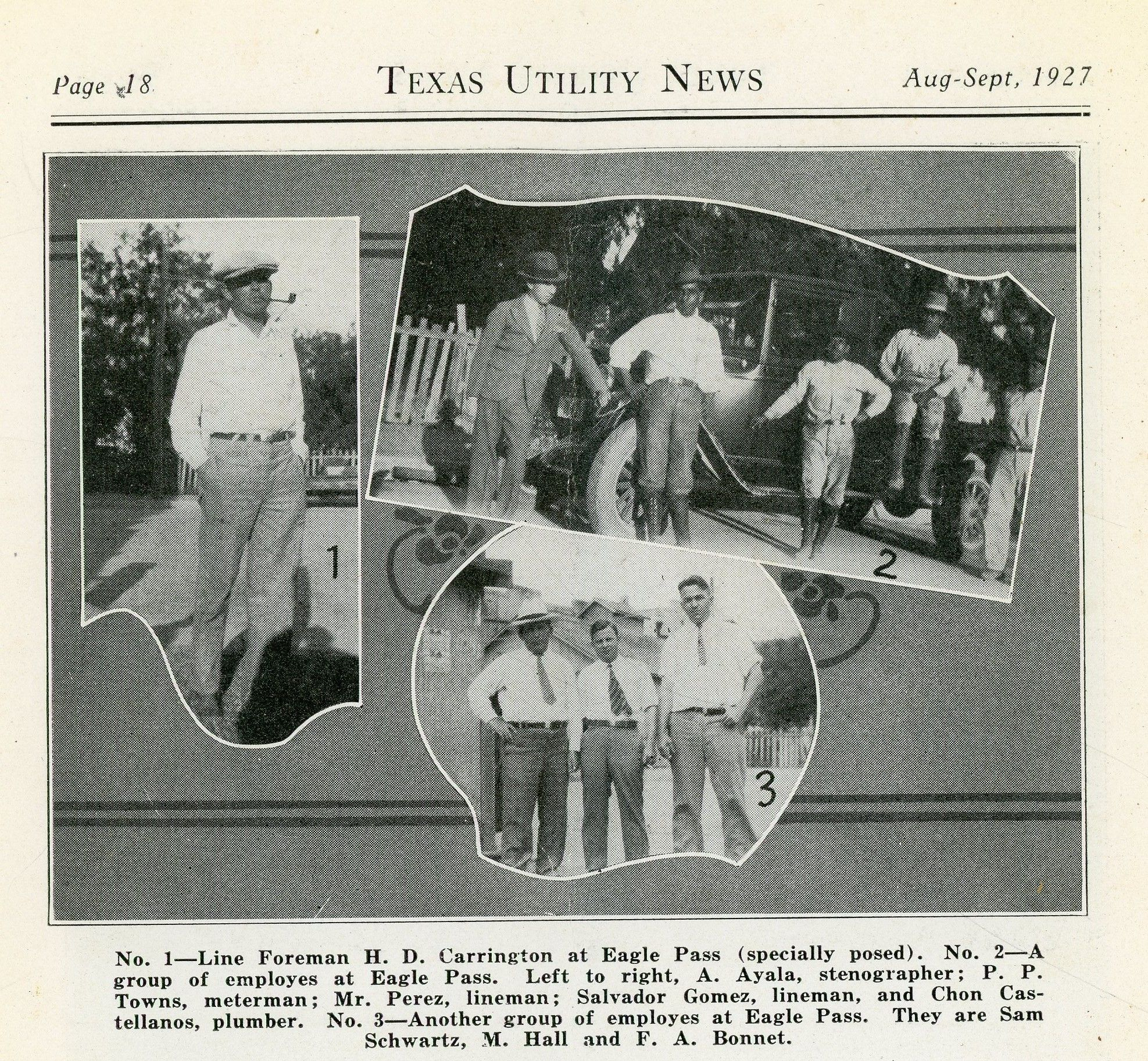 August September 1927 Texas Utility News Eagle Pass Texas