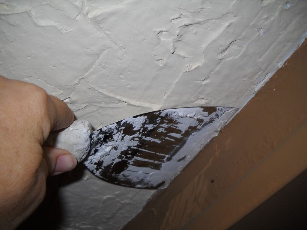 Covering a popcorn ceiling with plaster popcorn ceilings and covering popcorn ceiling with plaster definitely going to try this one doublecrazyfo Images