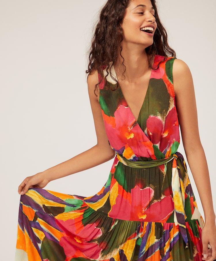 Sukienka Sredniej Dlugosci W Tropikalne Kwiaty Sukienki I Spodnice Stroje Kapielowe I Odziez Plazowa Spring Summer 2019 Oy Fashion Spring Fashion Style
