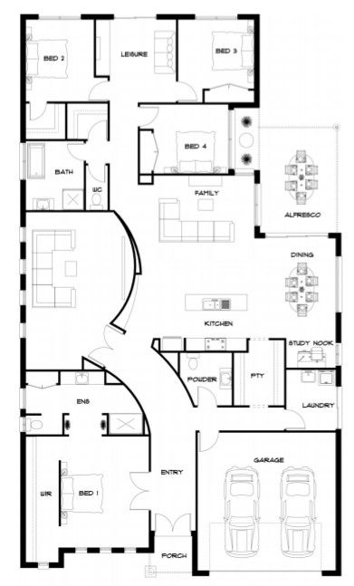 Floor Plan Kingbuilt New House Plans Dream House Plans Floor Plan Design