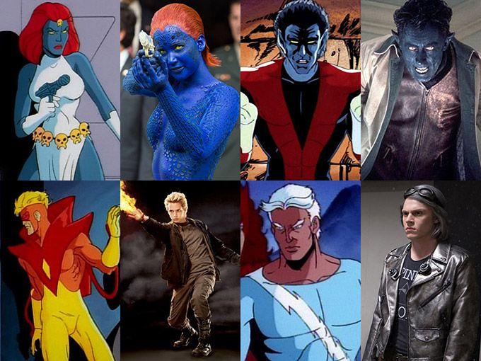 X Men Characters Cartoons Vs Movies Sneakhype Man Movies X Men Man Character