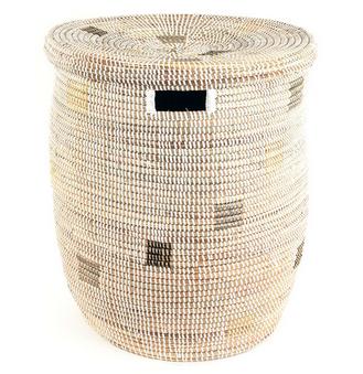 White Fair Trade Sahara Basket Hamper With Images African