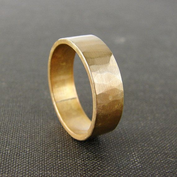 Wide Brass Wedding Band Simple Textured Mens Ring His And Hers Wedding Bands Rings For Men Wedding Bands Engagement Rings