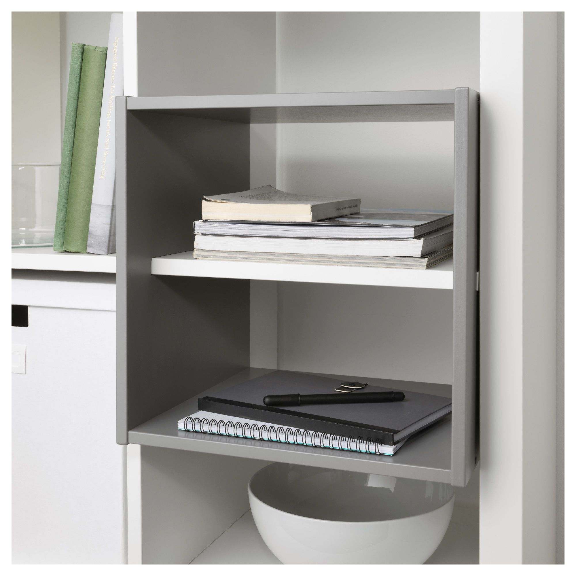 IKEA KALLAX Shelf divider Light grey cm You can use the inserts to customise KALLAX shelving unit so that it suits your storage needs