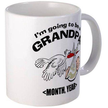 Cafepress Personalized Funny Grandpa To Be Mug, Multicolor