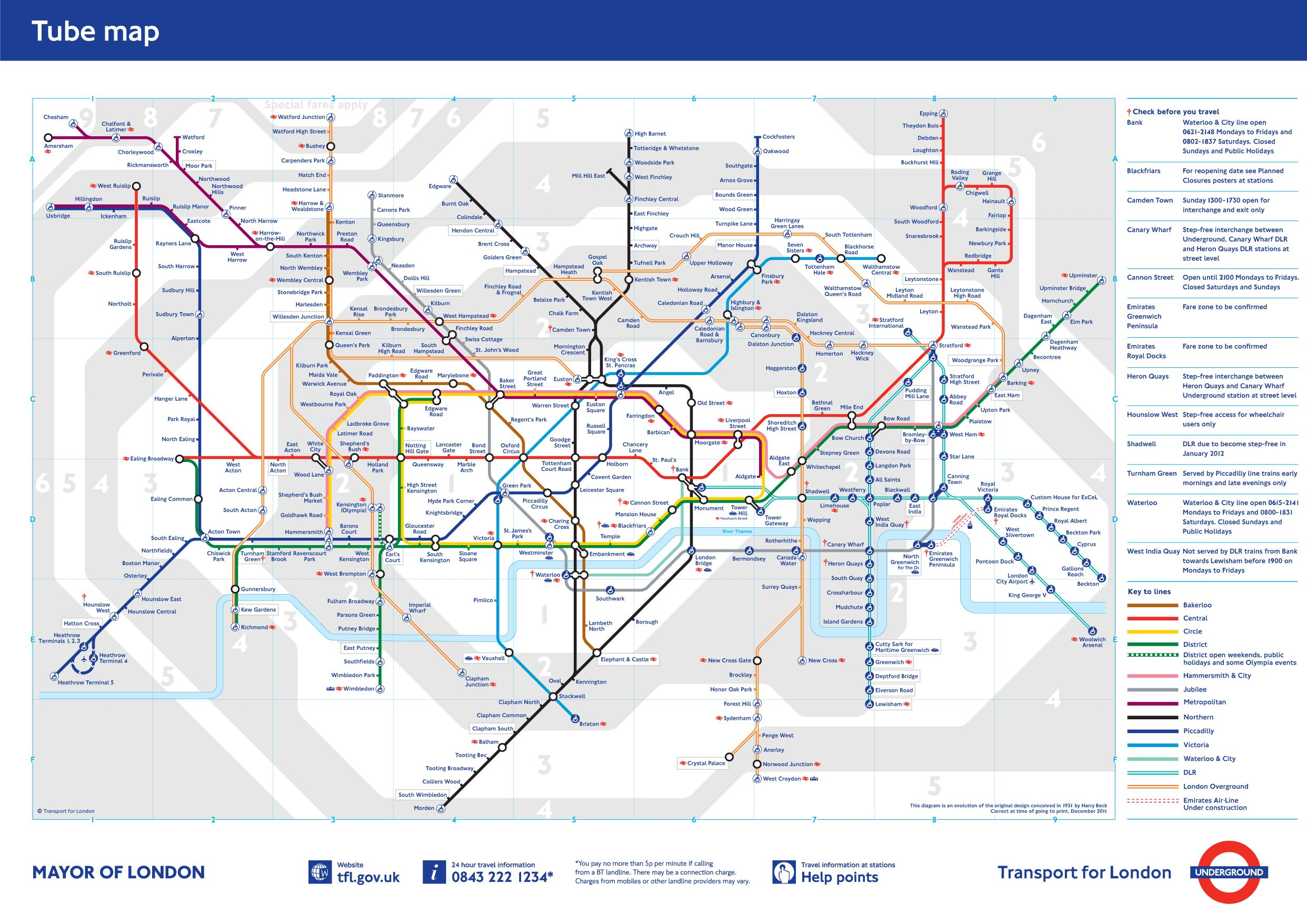 London Tube Map Infographic Pinterest