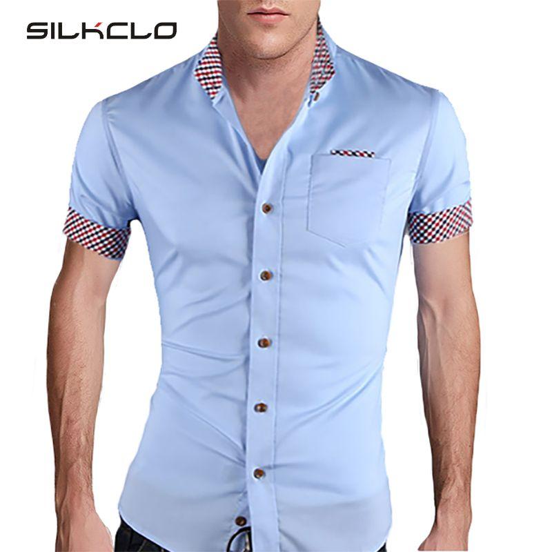 Cheap 2015 Estilo De Moda De Verano Para Hombre Camisa De Tela Escocesa Del Collar Camisas De Ma Moda De Verano Para Hombre Camisas Casuales Camisas Masculinas