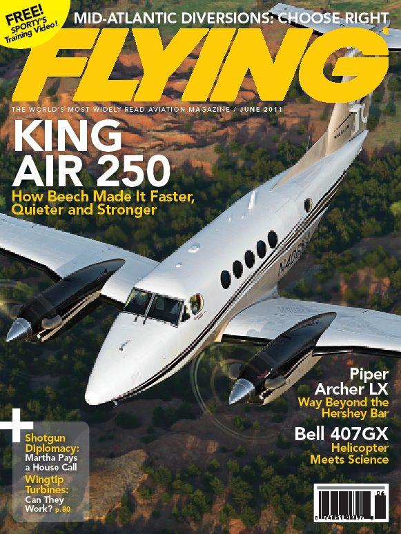 Flying Magazine June 2011 Cover - King Air 250