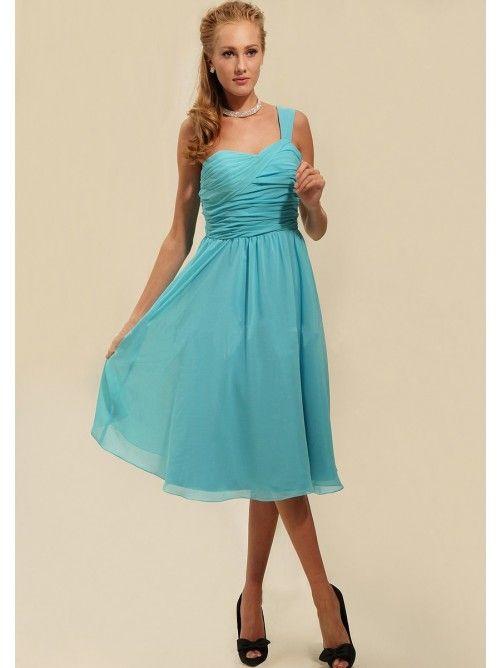 A-Linie Princess-Linie One-Shoulder-Träger Kurz Mini Chiffon Kleid ... d52483ef8c