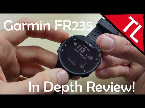 The Garmin Forerunner 235 is very light weight and thin