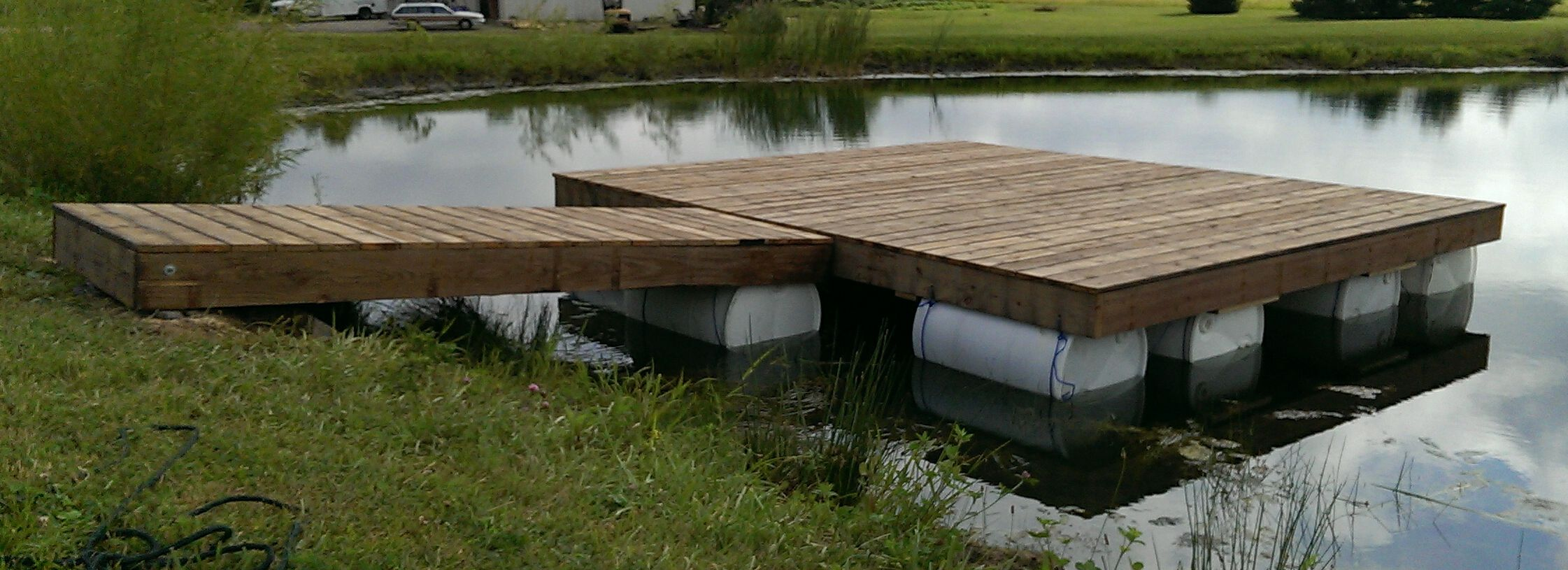 how to build a floating dock on a river