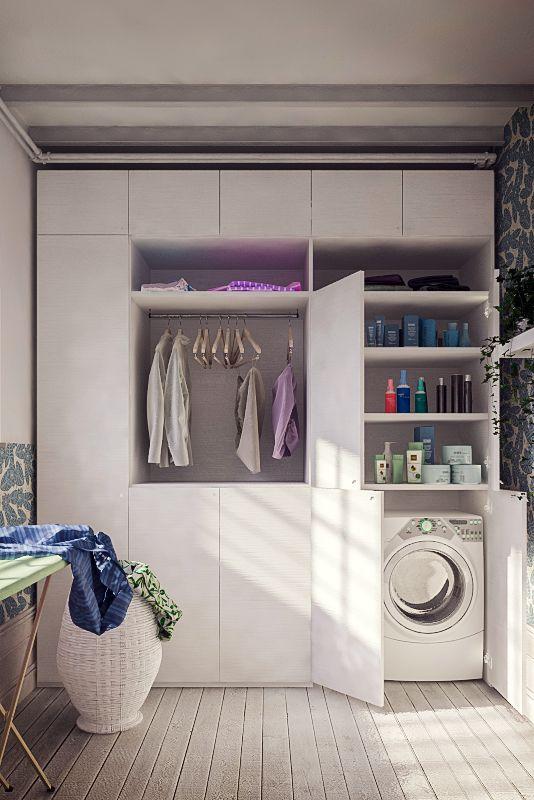 Armadio lavanderia guardaroba nel 2019 armadio for Asciugatrice sopra lavatrice kit ikea