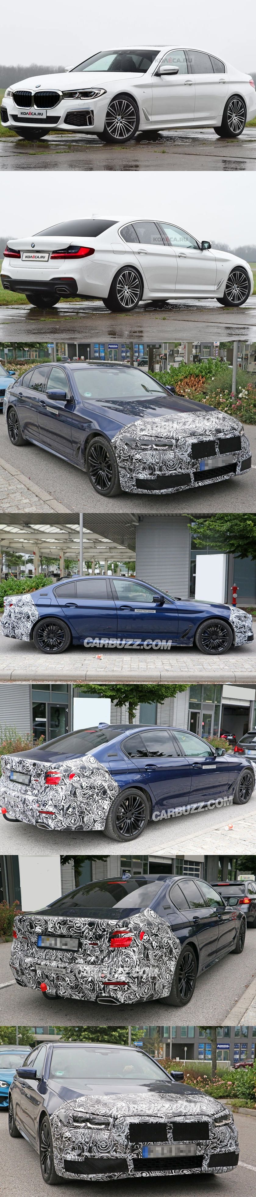 Expect The 2020 Bmw 5 Series Facelift To Look Like This Bmw 5