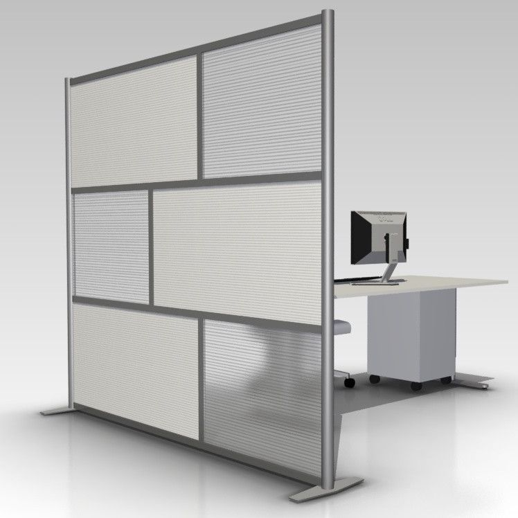 84 wide x 75 high Room Divider Office Partition White