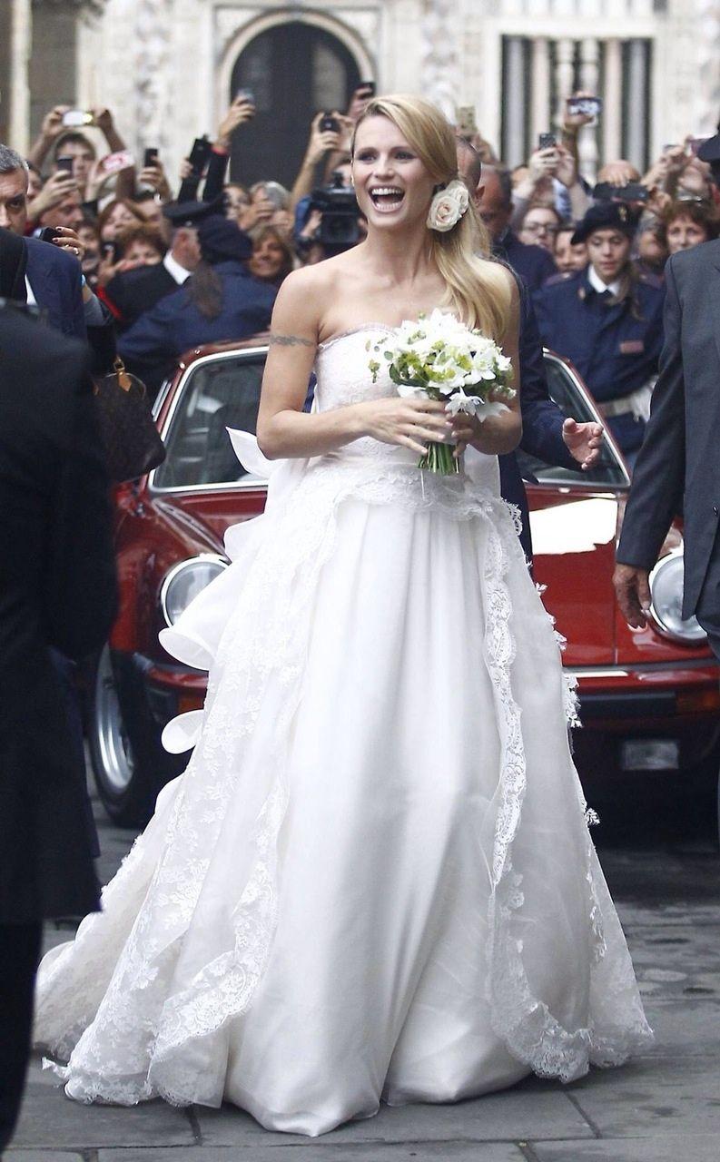Matrimonio Michelle Hunziker e Tomaso Trussardi | Abiti da sposa ...