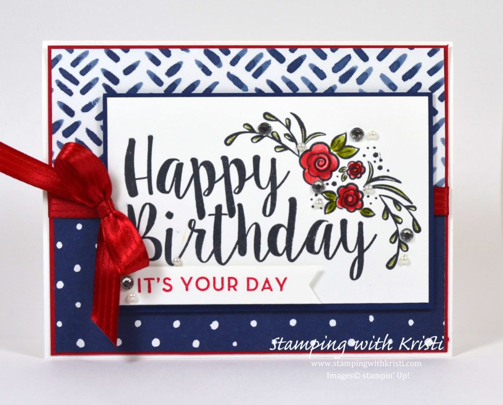 Stampin Up Big On Birthdays Card By Kristi Www Stampingwithkristi