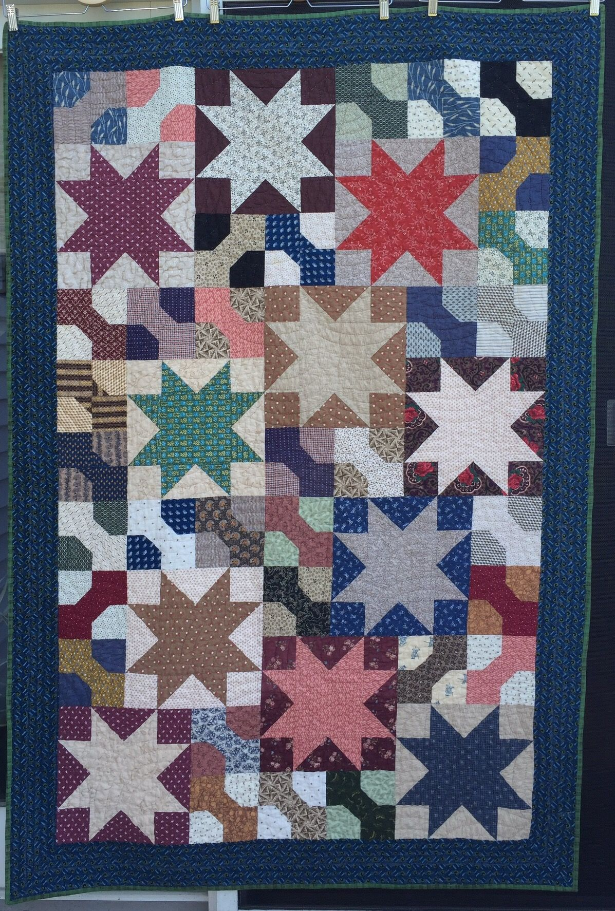 Katy says I have always loved quilts quilted with the Baptist fan
