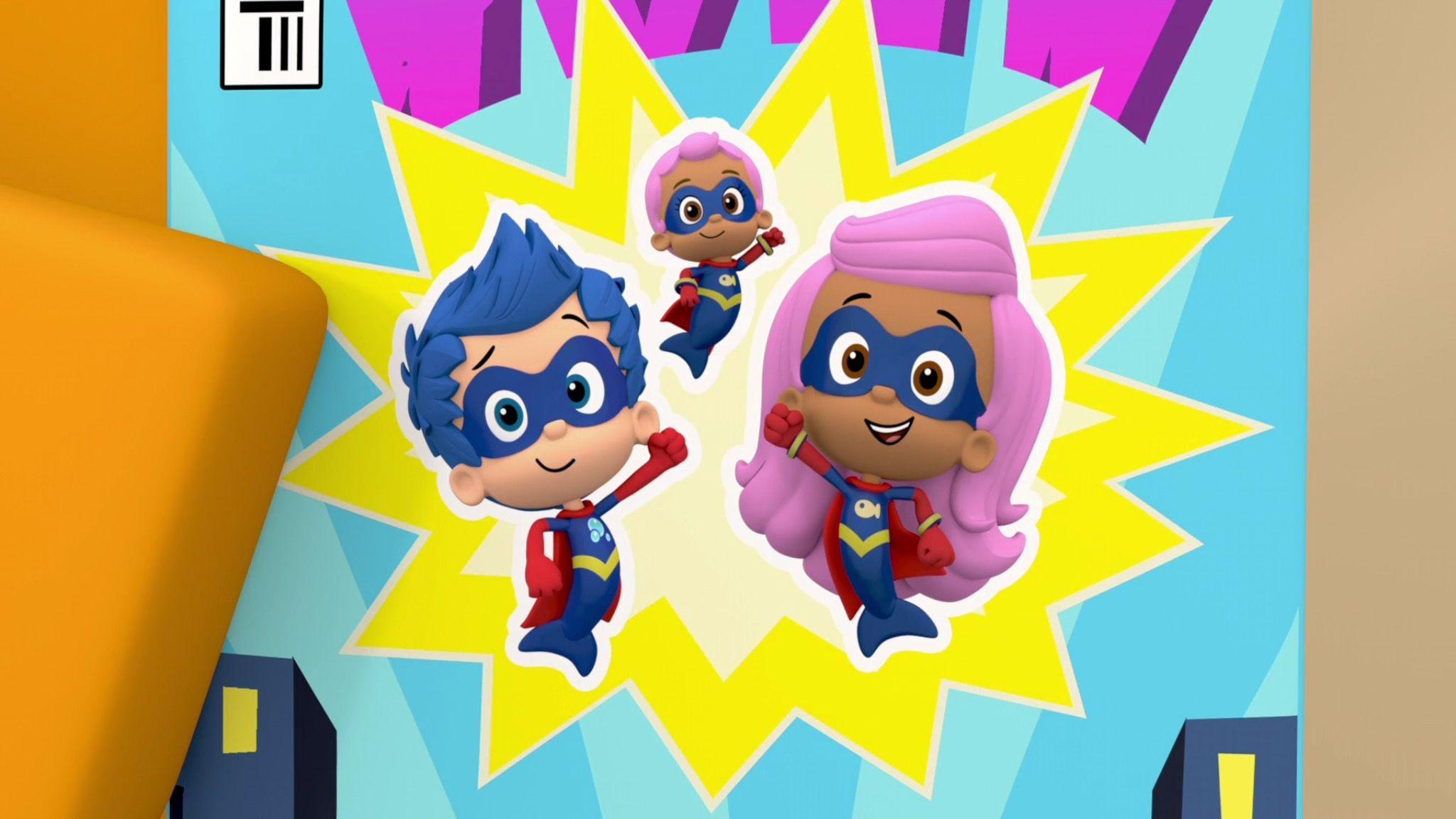 Bubble Guppies Super Baby Comic Book In 2020 Bubble Boy Super Adventure Nick Jr