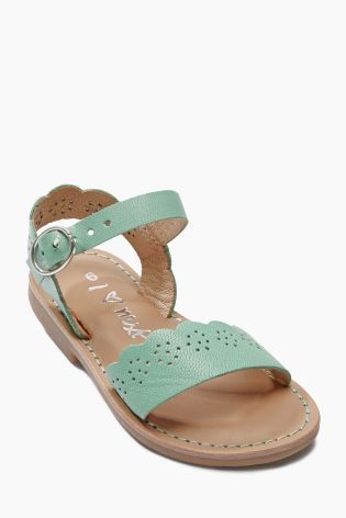 e1182600919 Buy Scallop Leather Sandals (Younger Girls) online today at Next  Slovakia