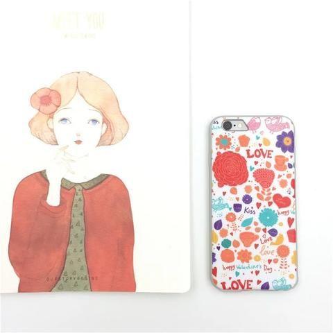 Fashion Girly Graffiti Design Iphone 6/6s Protector Bumper Case