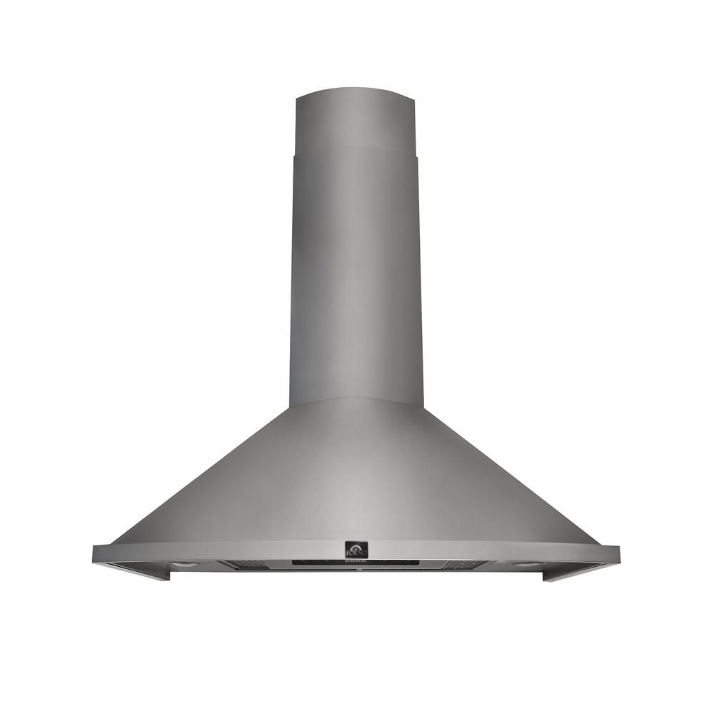 Forno Campobasso 30 In Convertible Wall Mount Range Hood In Stainless Frhwm5010 30 The Home Depot Wall Mount Range Hood Stainless Range Hood Chimney Range Hood
