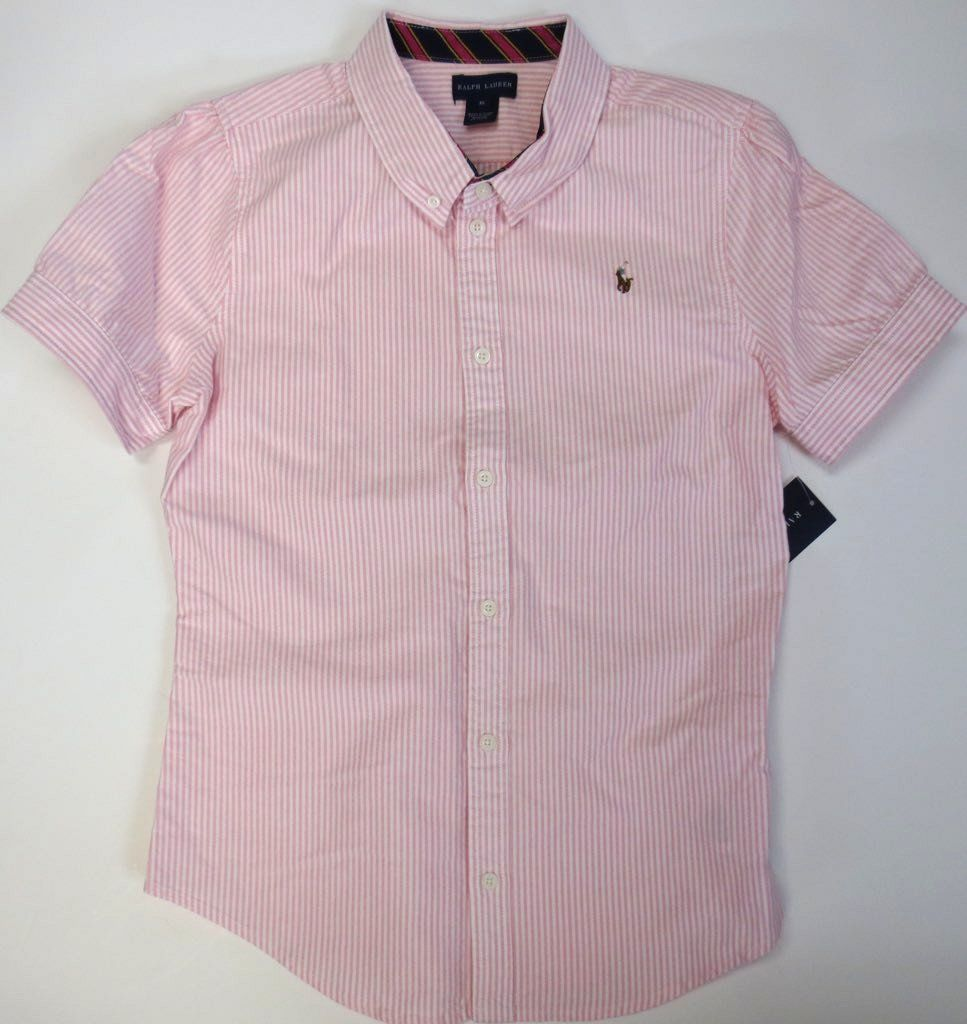 180f0951e Tops Shirts and T-Shirts 175529: Ralph Lauren Polo Girls Sz 12 Shirt Kid  Large Oxford Short Sleeve Stripe Top New -> BUY IT NOW ONLY: $35 on eBay!